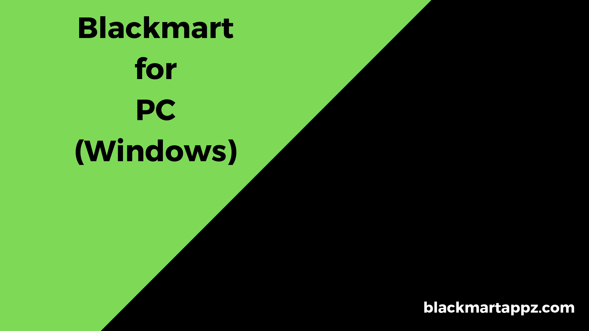 Blackmart for PC